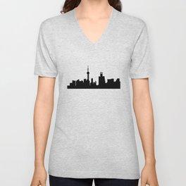 shanghai city skyline Unisex V-Neck