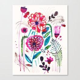 Wild Dahlias Canvas Print