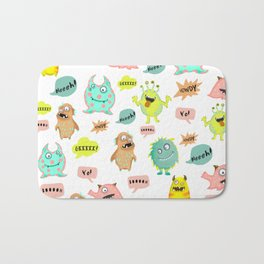 Happy little monsters Bath Mat
