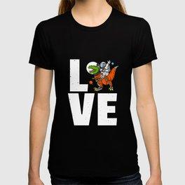 Dinosaur Astronaut Space Galaxy T-shirt