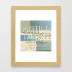 Psalm Scripture Collage Framed Art Print