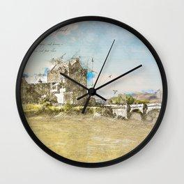 Eilean Donan Castle, Scotland Wall Clock
