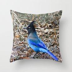 True Blue Throw Pillow