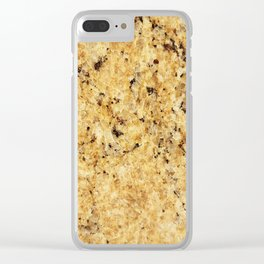 Modern gold yellow black abstract stylish marble Clear iPhone Case