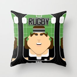 Rugby Black - Maul Propknockon - June version Throw Pillow