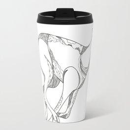 Greyhound Running Doodle Art Travel Mug