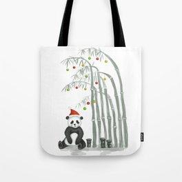Christmas Panda Tote Bag