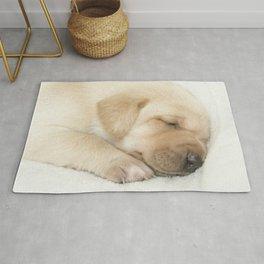 Sleeping labrador puppy Rug