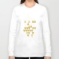 golden Long Sleeve T-shirts featuring My Favorite Shape by Krissy Diggs