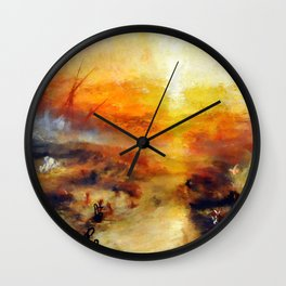 """J. M. W. Turner """"Slavers Throwing overboard the Dead and Dying, Typhon coming on - The slave ship"""" Wall Clock"""