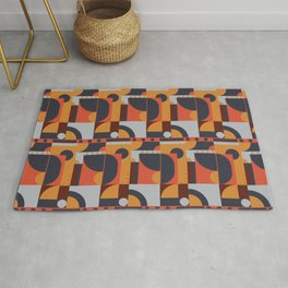 Geometric Pattern (hot and cold) Rug