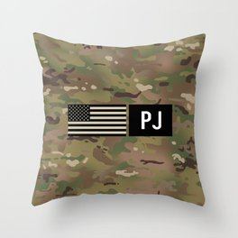 PJ (Camo) Throw Pillow