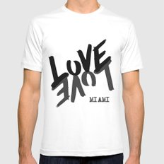 LOVE - Miami - Mens Fitted Tee White MEDIUM