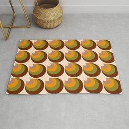 Retro funky 70s 3D cones brown, orange Rug