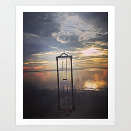 Swing/Sun SeT Art Print