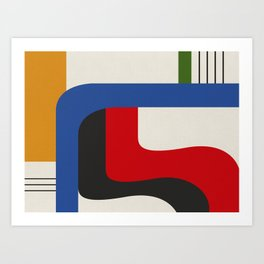 TAKE ME OUT (abstract geometric) Art Print
