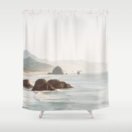 overlooking cannon beach Shower Curtain