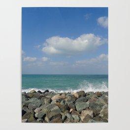 Aqua stone beach - Beaches Poster