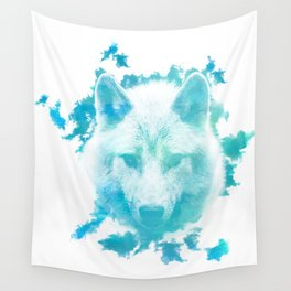 Blue Wolf Wall Tapestry