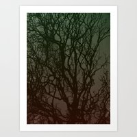 Ombre branches Art Print