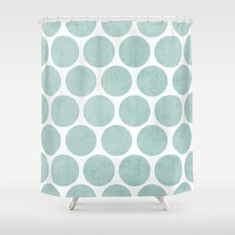 robins egg blue polka dots Shower Curtain