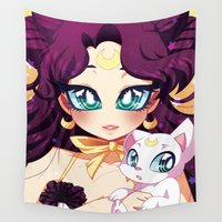 luna Wall Tapestries featuring Luna by Corpse Cutie