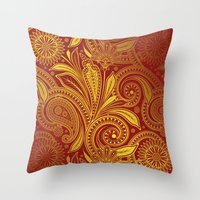 fancy Throw Pillows featuring Fancy by Ale Ibanez