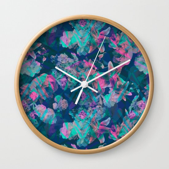 Geometric Floral Wall Clock