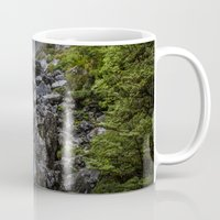waterfall Mugs featuring Waterfall. by Michelle McConnell