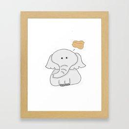 Elephant Wants Peanuts Framed Art Print