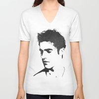 darren criss V-neck T-shirts featuring Darren Criss Portrait by laurenschroer