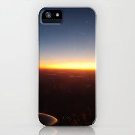 Turboprop sunset iPhone Case