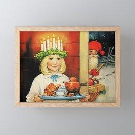 """Christmas Tea"" by Jenny Nystrom Framed Mini Art Print"