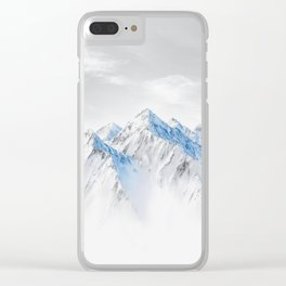 Snow Capped Mountains Clear iPhone Case