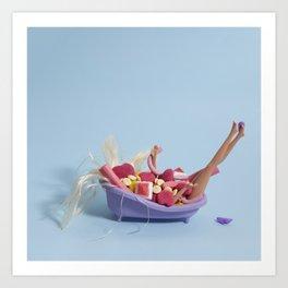 Sugar bath Art Print