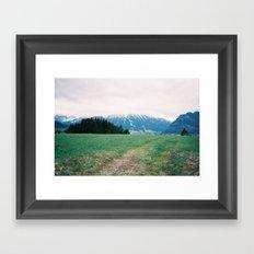 Bavarian Alps Framed Art Print