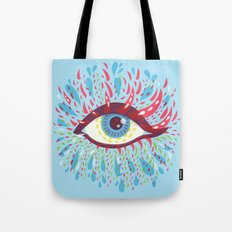 Weird Blue Psychedelic Eye Tote Bag