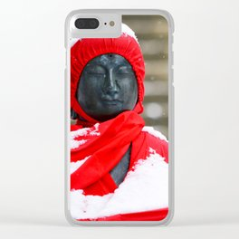 Steadfast in the Snow Clear iPhone Case