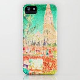 glitchy gardens iPhone Case