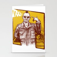 taxi driver Stationery Cards featuring Taxi! by Thiago García