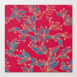Winter Floral Pattern Canvas Print