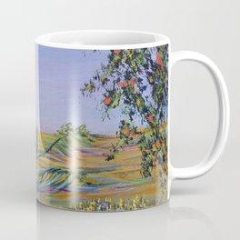 peach tree valley 2, modern impressionism art, landscape art Coffee Mug
