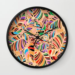 Summer Leaves Colors Wall Clock