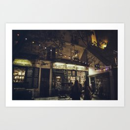 Bookstore with charm Art Print