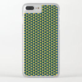 Yellow with blue Clear iPhone Case