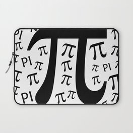The Pi symbol mathematical constant irrational number, greek letter, background Laptop Sleeve