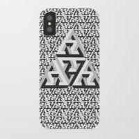 escher iPhone & iPod Cases featuring Escher Pattern by HeroStatus