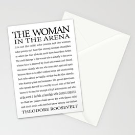 Daring Greatly, Woman in the Arena - The Man in the Arena Quote by Theodore Roosevelt Stationery Cards