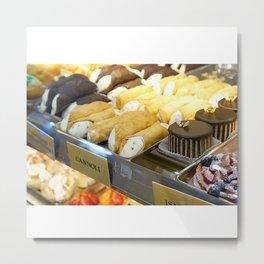 An Italian Dessert Feast Metal Print