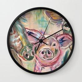 Farmhouse Babies Wall Clock